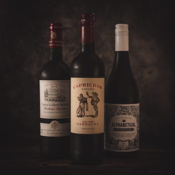 Mixed red wine case